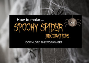 Spooky Spider Decorations for Halloween