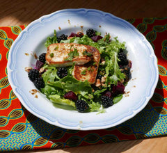 Blackberry and Halloumi salad