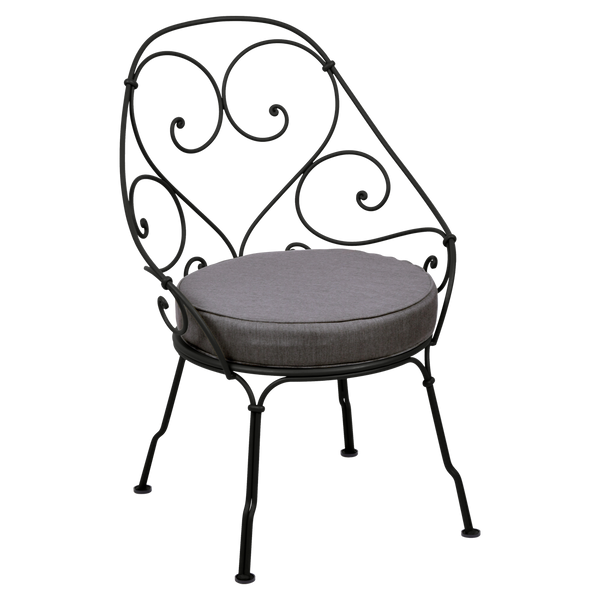 1900 Collection Cabriolet Armchair - Graphite Grey Cushions