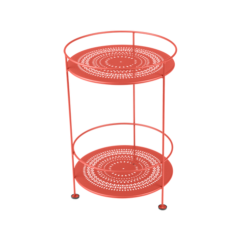 Guinguette Collection Side Table with Perforated Double Top