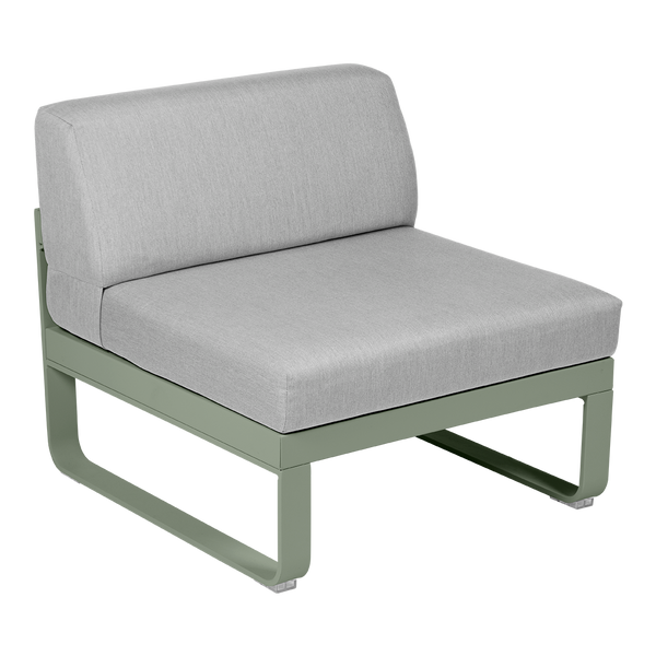 Bellevie 1 Seater Central Module - Flannel Grey Cushions