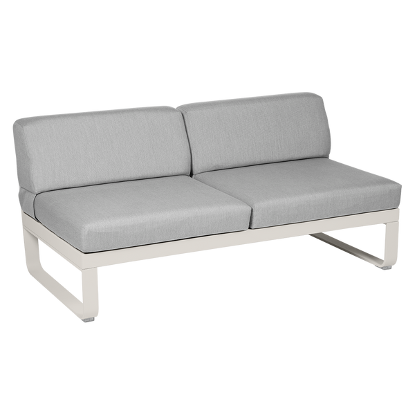 Bellevie 2 Seater Central Module - Flannel Grey Cushions