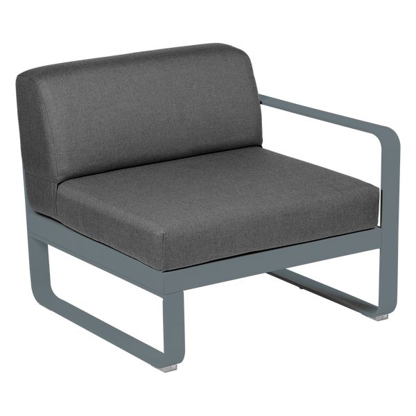 Bellevie 1 Seater Right Module - Graphite Grey Cushions