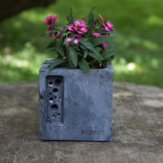 Bee Pot Mini - Charcoal