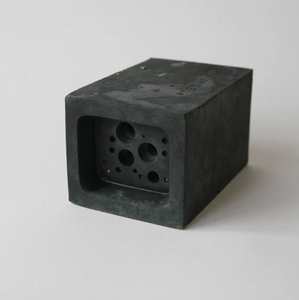 Small Bee Block - Charcoal