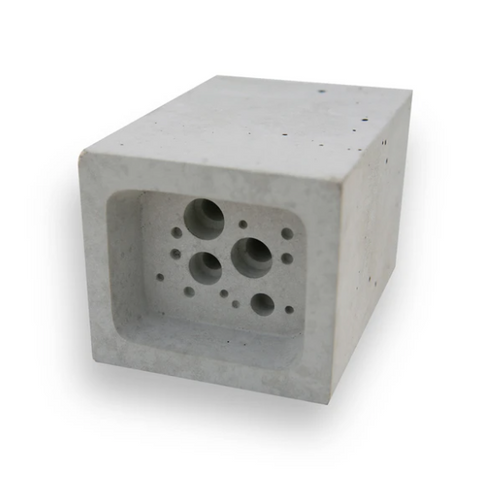 Small Bee Block - White