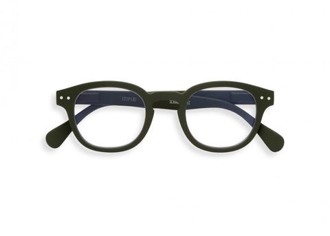 #C Reading Glasses Khaki Green