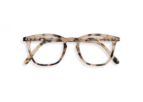 #E Reading Glasses - Light Tortoise