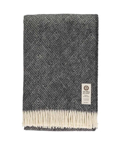 Donell Throw Charcoal/Cream