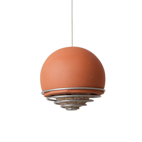 Birdball Belle Bird Feeder Terracotta
