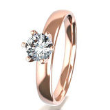 Tension set Spiral Round Engagement Ring