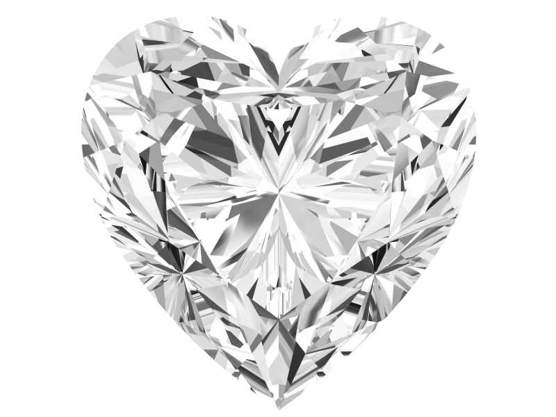 0.36 Carat Heart Diamond D Color VS2 Clarity