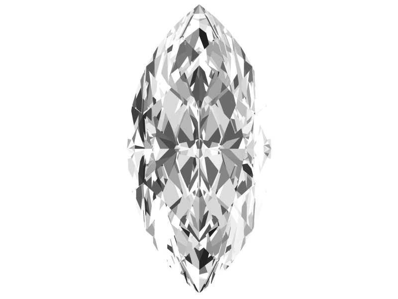 0.3 Carat Marquise Diamond D Color SI2 Clarity