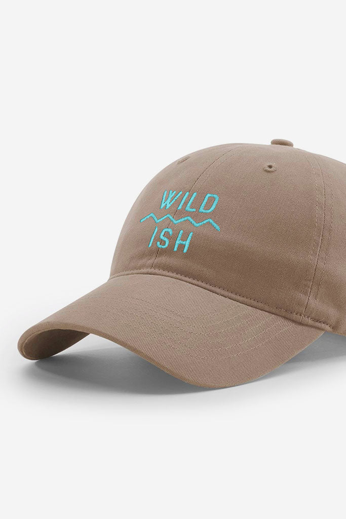 86c8037f74fa7 ... stay wildish mtn scape cap dad hat brown and teal