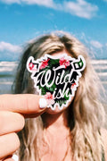 wildish tropical 3in buffalo sticker girl at beach