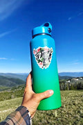 wildish tropical 3in buffalo sticker on hydroflask