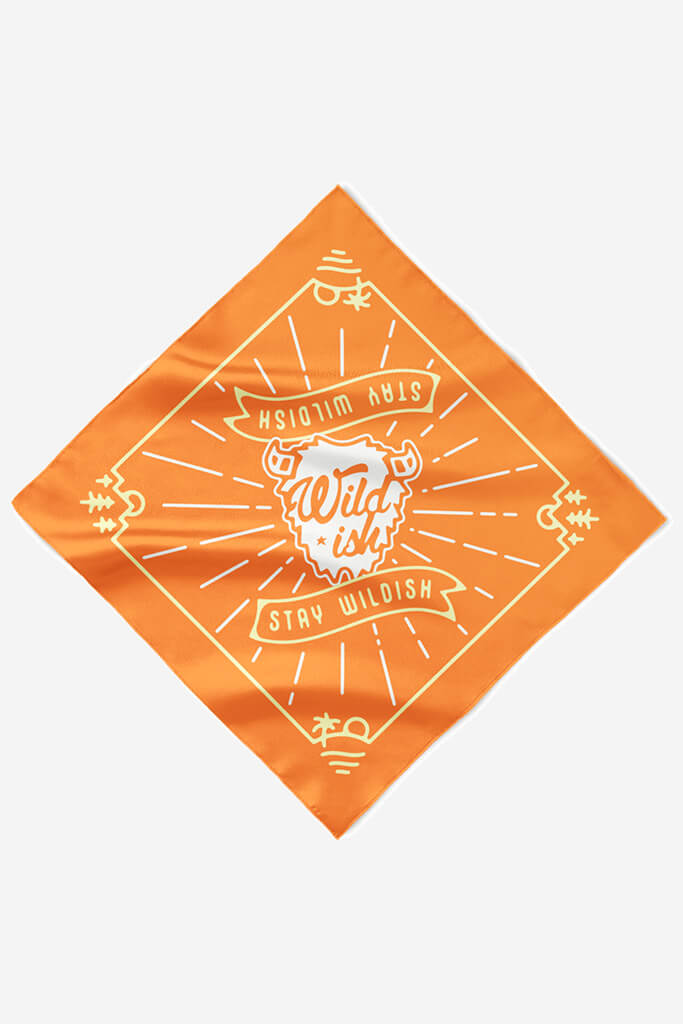 wildish buffalo bandana orange yellow