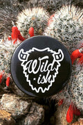 Wildish Pin Button Black on cactus