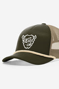 wildish buffalo foam trucker hat green