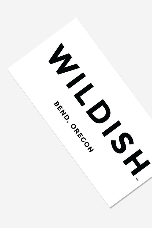 wildish bumper sticker white