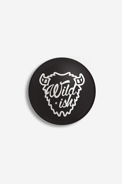 Wildish Pin Back Button Black