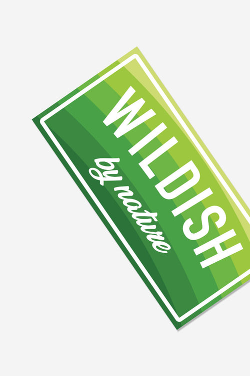 wildish by nature sticker green side
