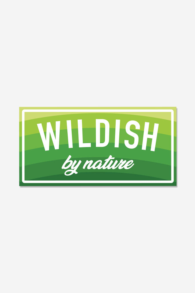 wildish by nature sticker green full