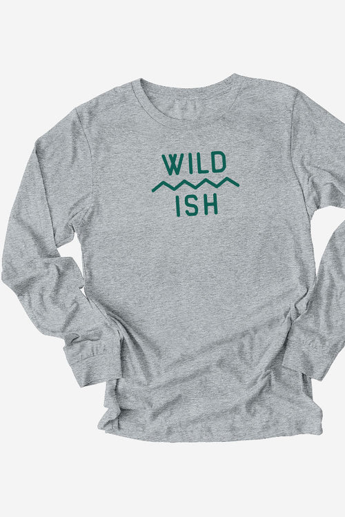 wildish mtn scape long sleeve tee shirt grey