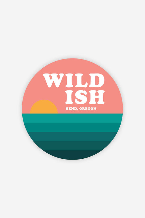 wildish 3in round sticker sunset