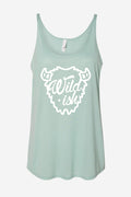 wildish slouchy tank dusty green color