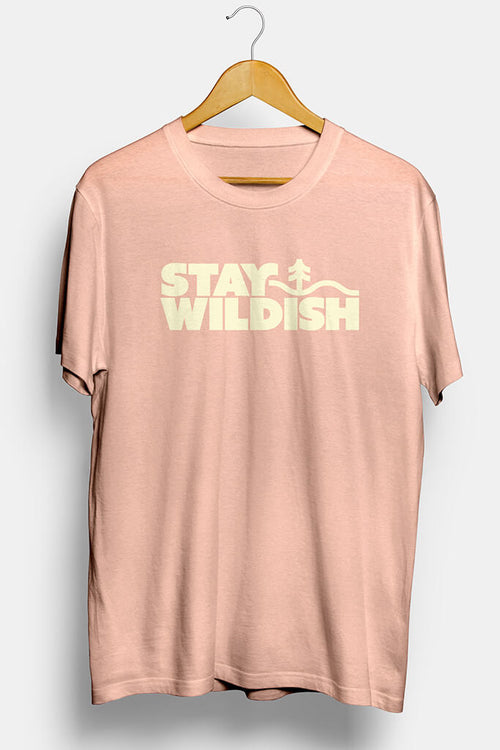 stay wildish forest vibes tee shirt pink blossom