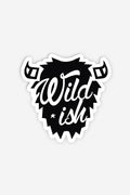 wildish black 3in buffalo sticker on white