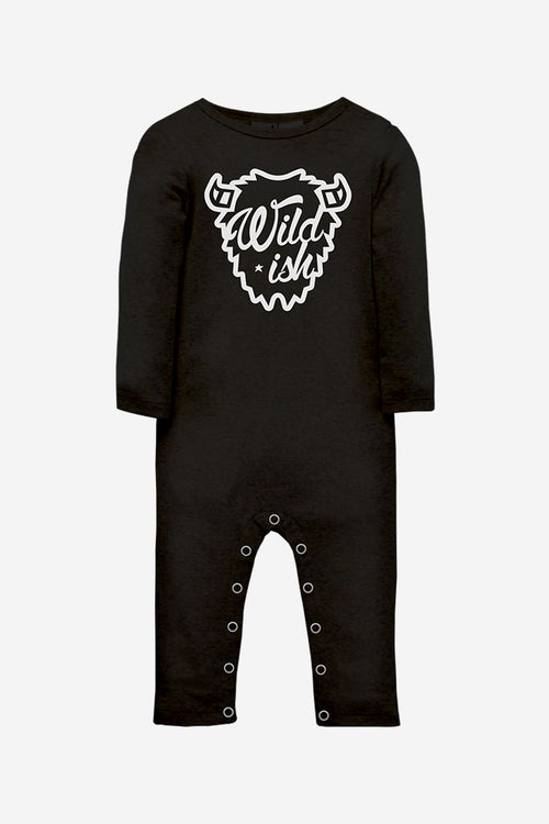 wildish toddler one pieces onesie long pajamas buffalo black