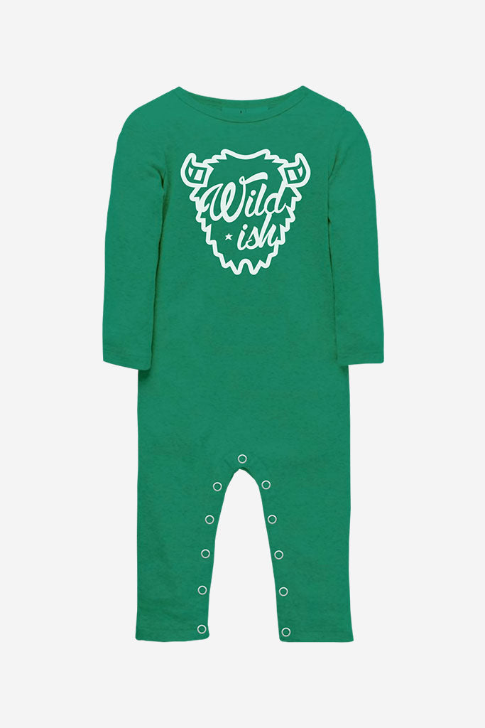 wildish toddler one pieces onesie long pajamas buffalo green