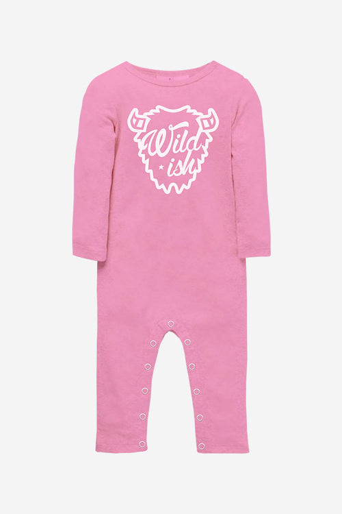 wildish toddler one pieces onesie long pajamas buffalo pink