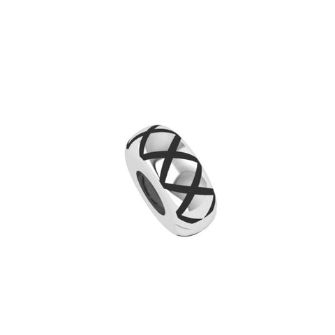 Candid Jewellery - Polished black cross hatch stopper