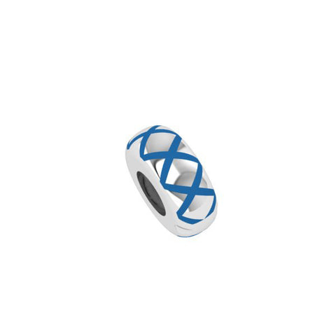 Candid Jewellery - Polished blue cross hatch stopper