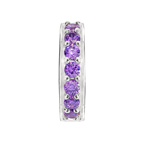 Candid Jewellery - Sterling Silver stopper with purple cubic zirconia