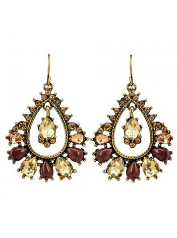 Antique Ruby Drop Earrings