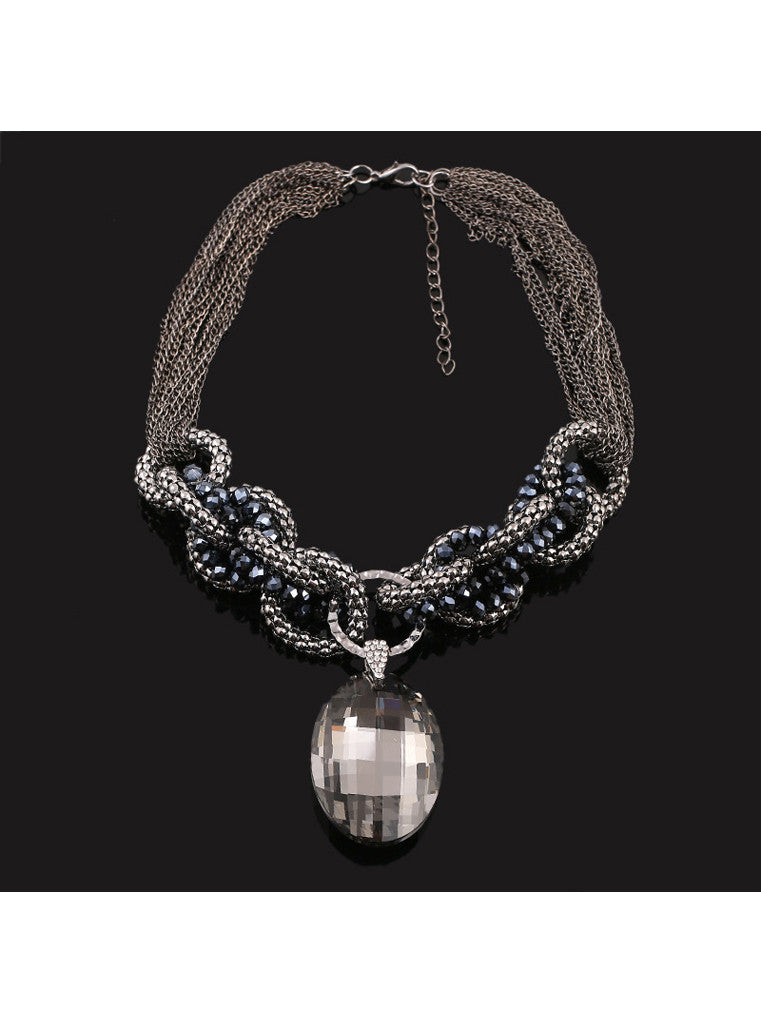 Multichain clear crystal pendant necklace sahasions multichain clear crystal pendant necklace aloadofball Gallery