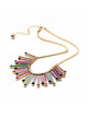 Chic Multi Color Rhinestone Metal Tassel Bib Necklace
