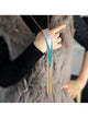 Tricolor tassel fringe long necklace