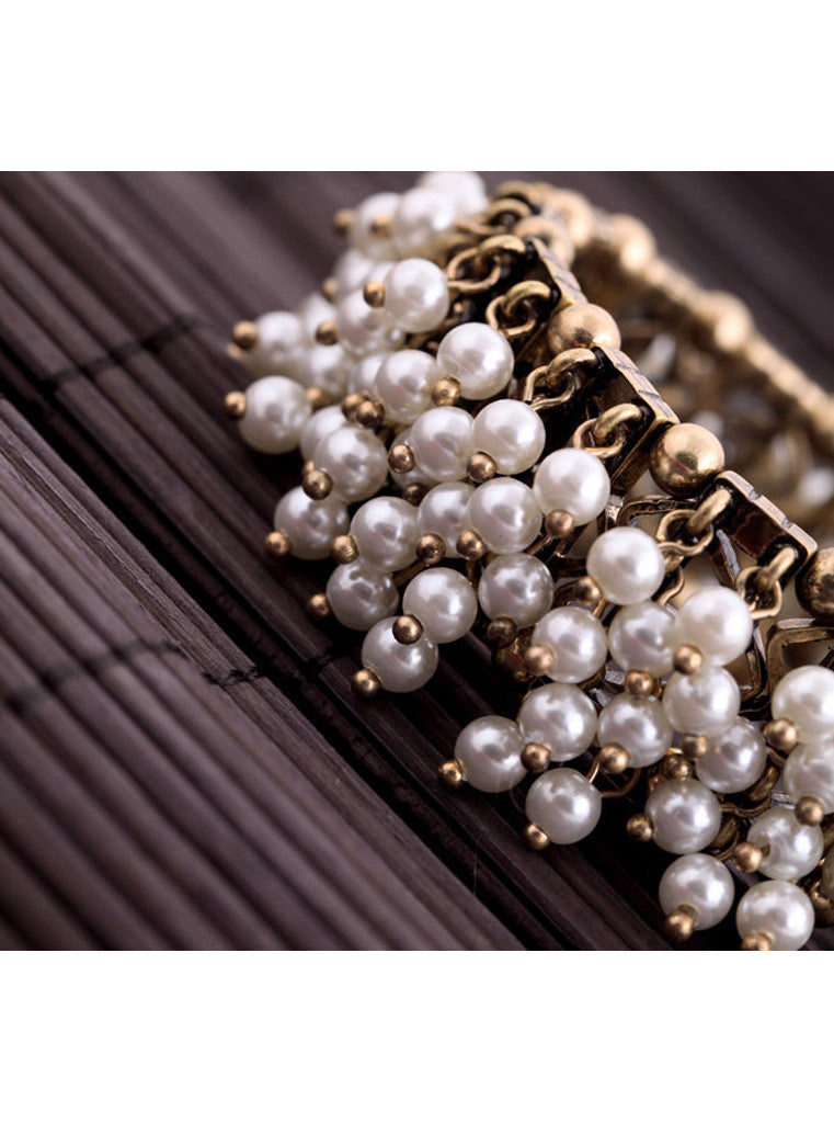 Clustered Pearl Stretch Bracelet (6)