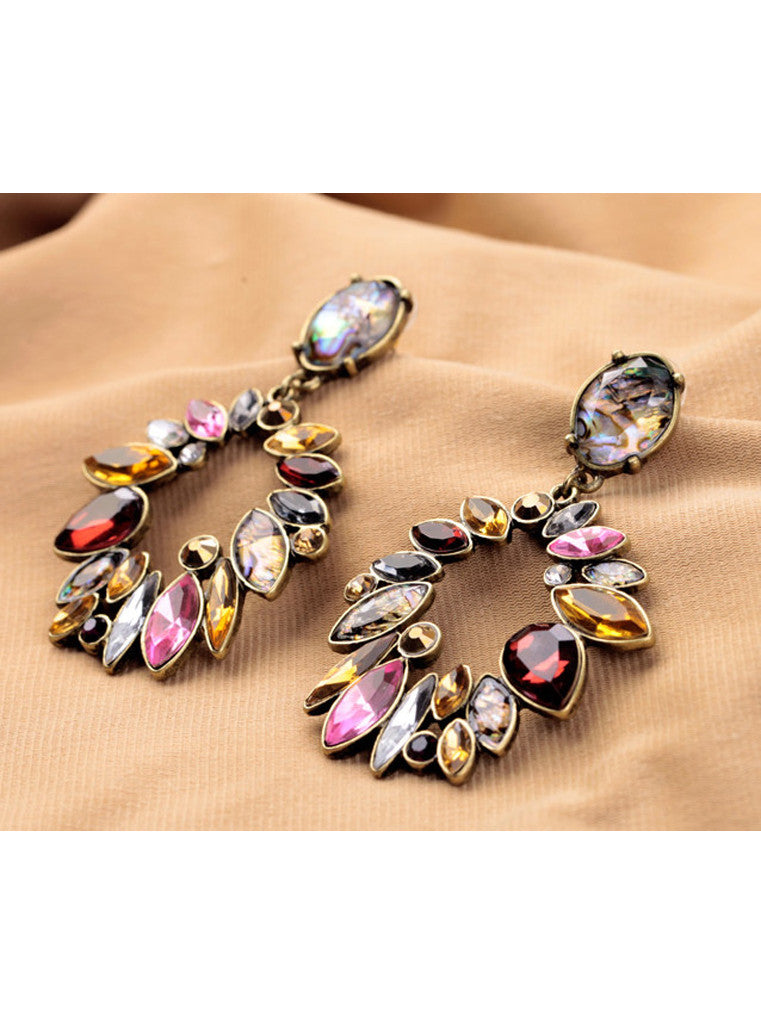 Fashion Multi Color Statement Dangle Earrings