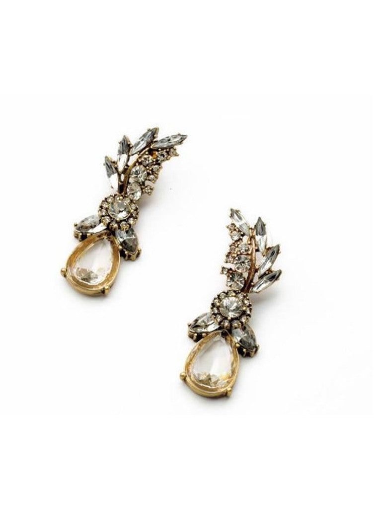 Lucency Statement Waterdrop Leaf Drop Earrings (6)