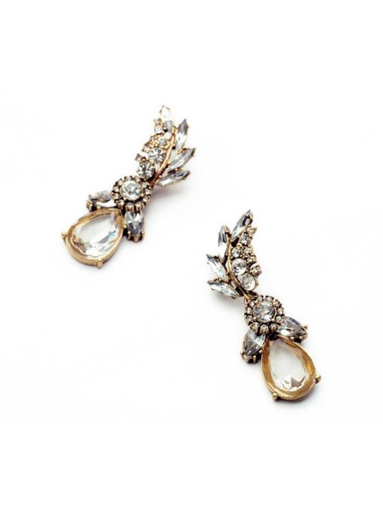 Lucency Statement Waterdrop Leaf Drop Earrings (8)