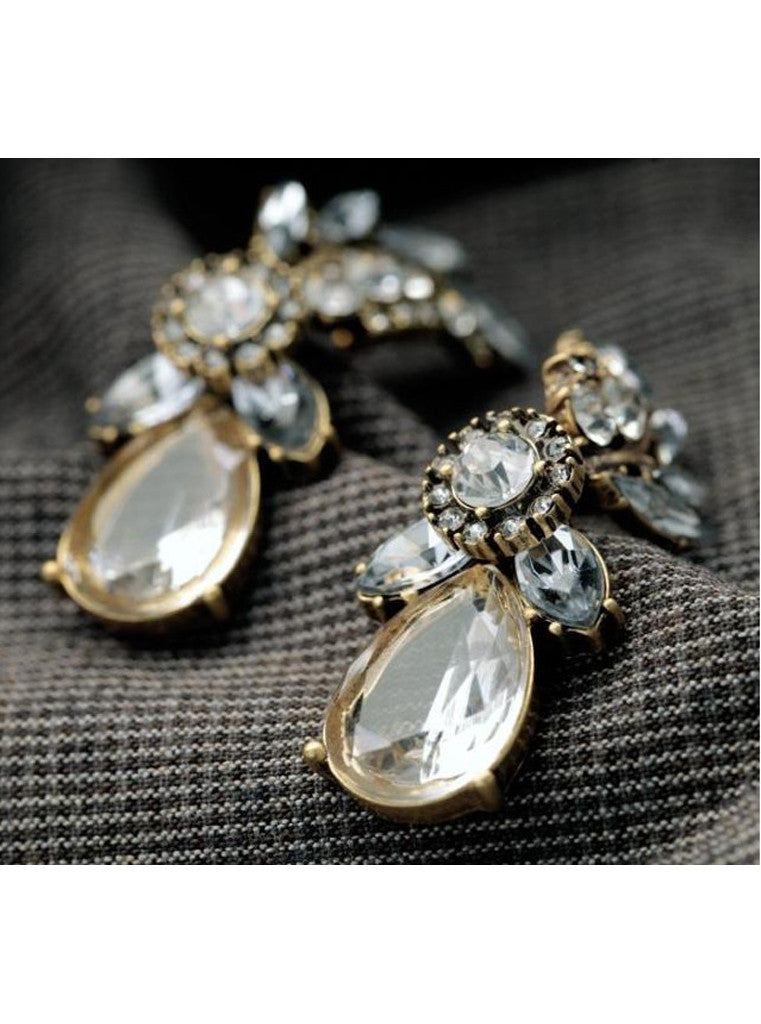 Lucency Statement Waterdrop Leaf Drop Earrings (7)