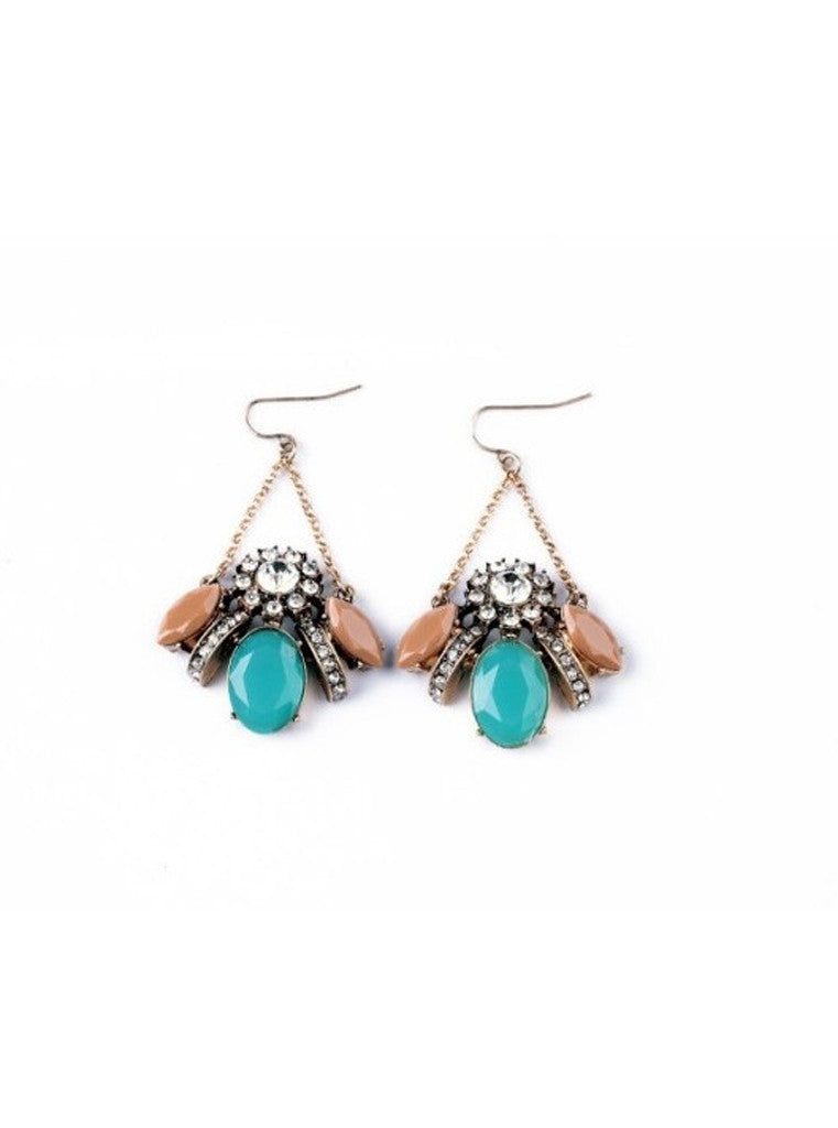 product vintage filigree blue earrings img stud sterling green stone silver turquoise gemstone