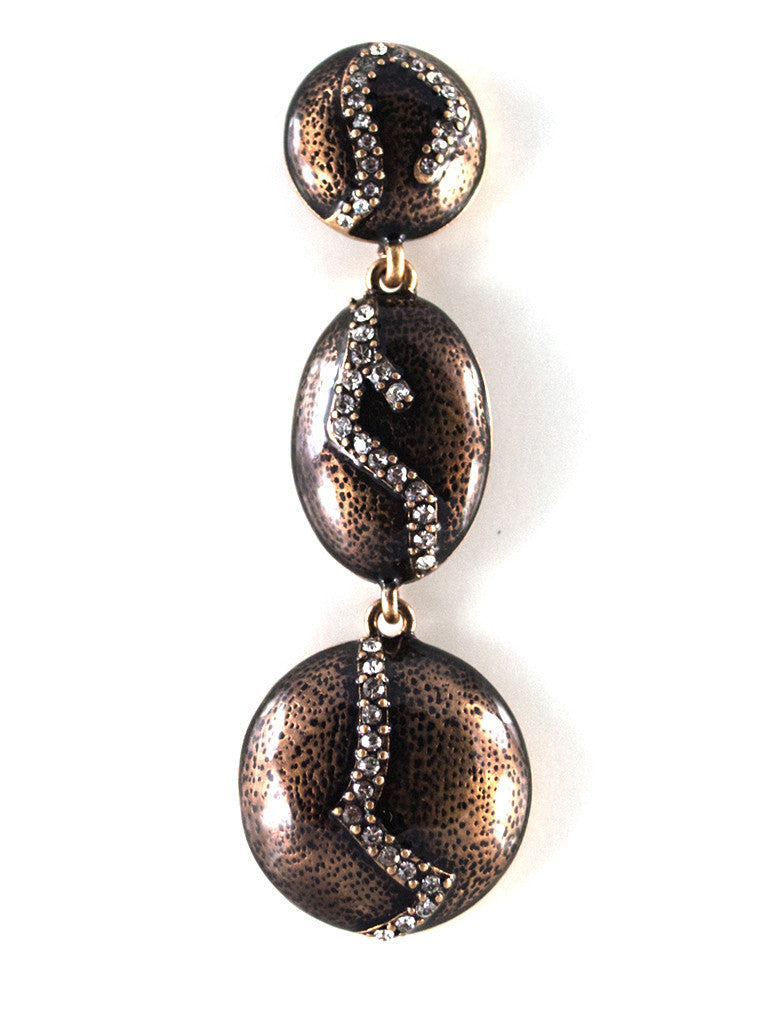 Unique Rhinestone Plate Long Statement Dangle Earrings (4)