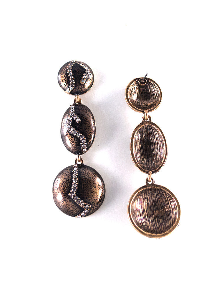 Unique Rhinestone Plate Long Statement Dangle Earrings (5)